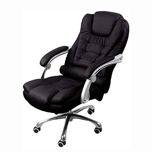 Office Chair Heavy Duty Executive Computer Stoel Verstelbare Big bureaustoel Grote Binnenlandse Zaken stoel met armleuningen, 100 pond Capacity, Black