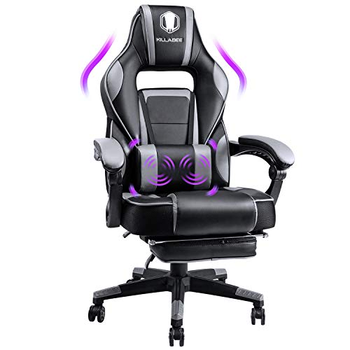KILLABEE Massage Gaming Chair Racing Computer Desk Office Chair High-Back...