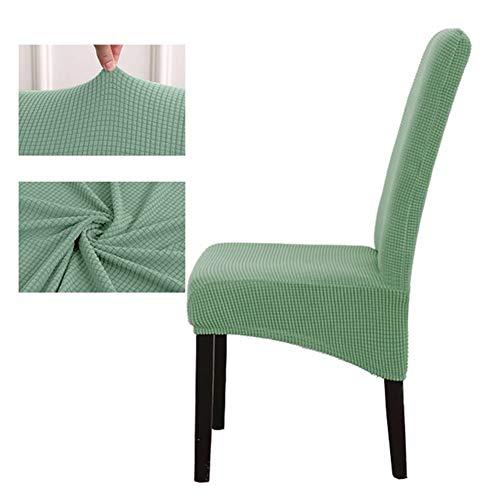 Fundas Para Sillas 2 Tamaño piezas de tela polar XL trasero largo de la tela escocesa for sillas de asiento de la silla de cubierta cubre universal Spandex restaurante Hotel banquete del partido Funda
