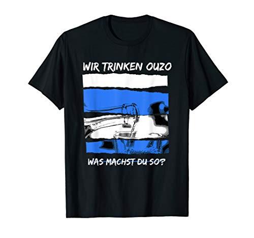 Griechenland Urlauber Ouzo Liebhaber Schnaps Retsina T-Shirt