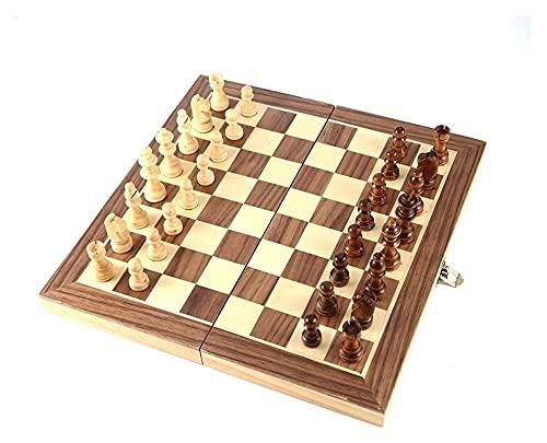 JKFZD Chess International Set Enseñanza Competición Oversized Chessman Lujosa Caja de Regalo Solid Wood Tablero de ajedrez (Size : 29x29cm)