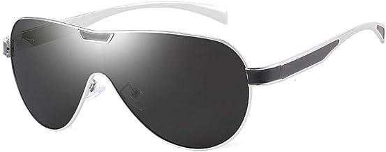 Lanrui Hombre en Gafas de Sol polarizadas Diseño Retro de una Pieza de Lente Gafas de Sol Pesca Espejo retrovisor de los vidrios