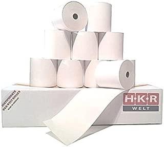 HKR-Welt Lot de 50 rouleaux de papier thermique 57 mm x 50 m x 12 mm