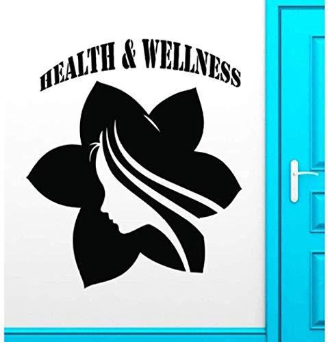 Vinilo pegatinas de pared decoración de la pared pegatinas de bricolaje exquisita moda citas famosas clásico salud spa masaje salud yoga estilo de vida 27X46Cm