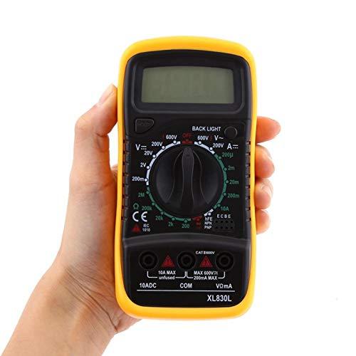 Multimetro Digitale Ohmmetro Auto Range Volt Ohm Meter Amperometro Voltmetro con LCD retroilluminato per elettricista