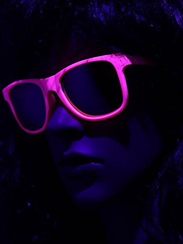 UV Schwarzlicht Neon Brille pink