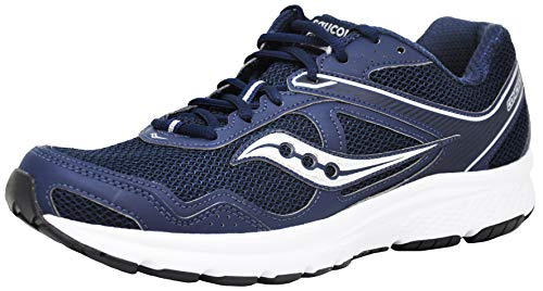 Saucony Men's Cohesion 10 Running Shoe, Navy/White, 9.5