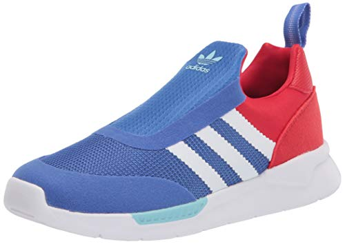 adidas Originals baby boys Zx 360 Sneaker, Blue/White/Vivid Red, 4 Infant US