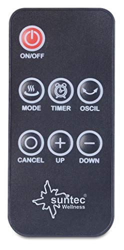 SUNTEC PTC-Heizlüfter Heat Tower PTC Design 2000 OSC [Für Räume bis 35 m³ (~15 m²), 3 Heizstufen + 2 Leistungsstufen, Oszillation, Timer + Fernbedienung, 2000 Watt] - 8