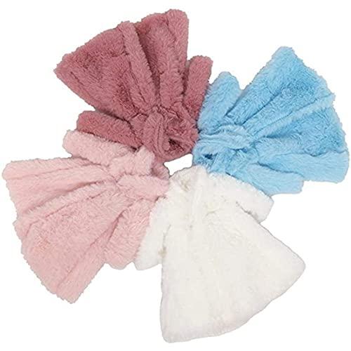 BiaBai 4 unids/set Multicolor de manga larga abrigo de piel suave Top invierno cálido accesorios de ropa informal ropa de muñeca niños juguete