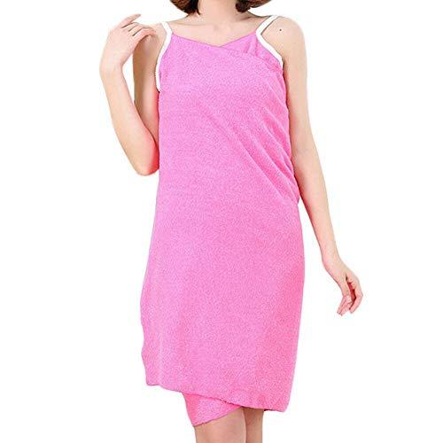 1 microvezel Badjas Badjas sneldrogend dames Badjas Soft Spa wikkelrok Magic Bath Towel Sling (75x 140cm) (Color : Pink)