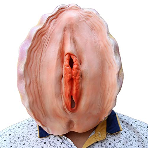 Creepy Halloween Masks Latex Conch Shell Mask Party Costume for Men and Women