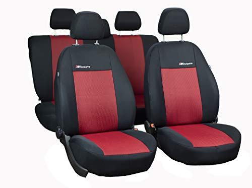 RIMERS Sitzbezüge Auto Set Autositzbezüge Schonbezüge Rot-Schwarz mit Airbag System