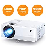 "Projector APEMAN 5000 Lumen Mini Portable Projector 1080P Support LED Projector 200"" LCD"