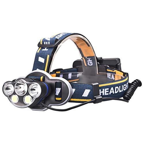 Lámpara frontal recargable LED superbrillante, ligera, impermeable al agua, cómoda para correr, pesca, acampada o senderismo