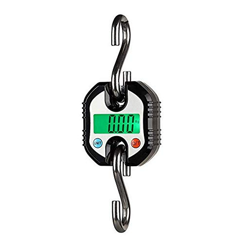 WZ Básculas Colgantes Mini Balanzas Electrónicas Escala De Bolsillo Ideal para La Agricultura Ganadera Portátil Industrial Que Pesa 150 KG / 0.15 (Color : Black)