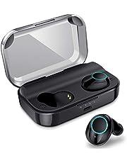 【最新版Bluetooth5.0 超大容量3500mAh】 完全ワイヤレス イヤホン 130時間連続駆動 Hi-Fi 高音質 Bluetooth イヤホン 自動on/off/ペアリング 音量調整 3Dステレオサウンド 両耳通話 CVC8.0ノイズキャンセリング IPX7完全防水 左右分離型 マイク内蔵 両耳/片耳対応 Siri対応 容量充電式収納ケース付き ブルートゥース イヤホン Meilunz X11