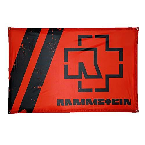 Rammstein Fahne Flagge ROT, Offizielles Band Merchandise