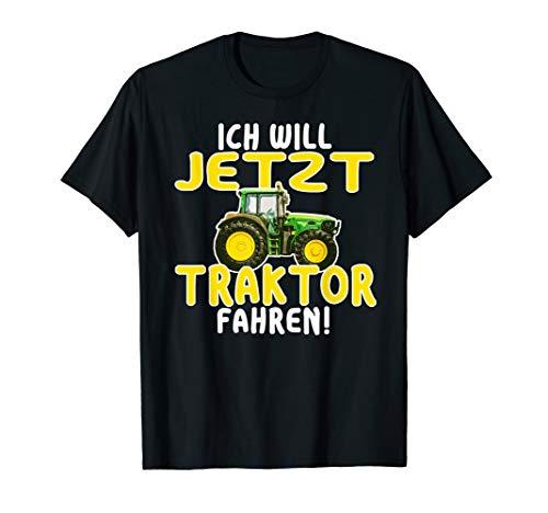 Ich will Traktor fahren T-Shirt Idee Schlepper Trecker Jungs
