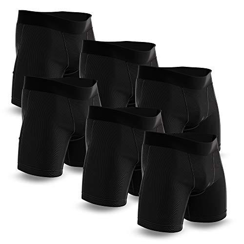 Boxershorts Herren 6er Pack Clean ohne Logo I Unterhosen Männer aus Softer Baumwolle I Boxershorts in klassischem Design in Schwarz