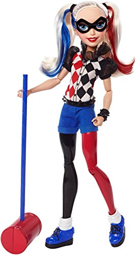 Mattel DLT65 - DC Super Hero Girls Harley Quinn Action Puppe, 30 cm
