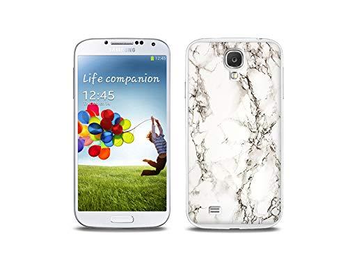 etuo Handyhülle für Samsung Galaxy S4 - Hülle, Silikon, Gummi Schutzhülle - Weißer Marmor