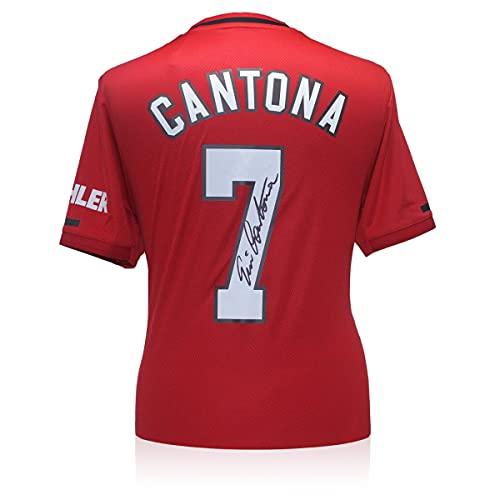 Exclusive Memorabilia Manchester United Trikot von Eric Cantona signiert. 2019-20
