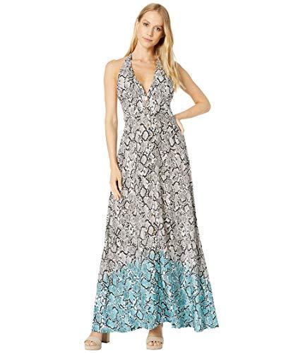 Heidi Klein Mozambique Halterneck Maxi Dress Print MD