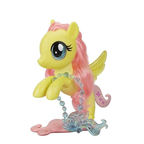Hasbro My Little Pony C1832ES0 - Fluttershy Glitzerndes Seepony Stylingspaß, Spielset