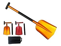 inet-trades 3-piece avalanche shovel made of aluminum Snow shovel - shovel for winter in the car / car / truck - original GmbH
