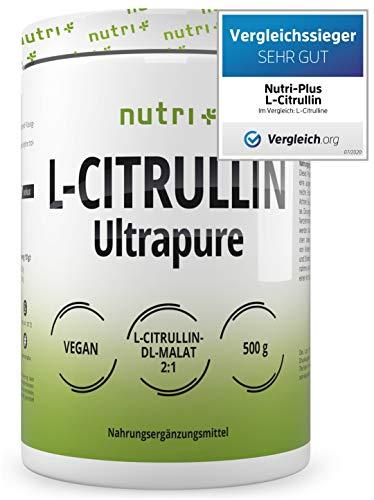 L-CITRULLIN MALAT PULVER 500g - hochdosiert + vegan + rein - Bodybuilding, Fitness und Sport - L-Citrulline Malate DL 2:1 Powder - Premiumqualität - Aminosäure - Pump