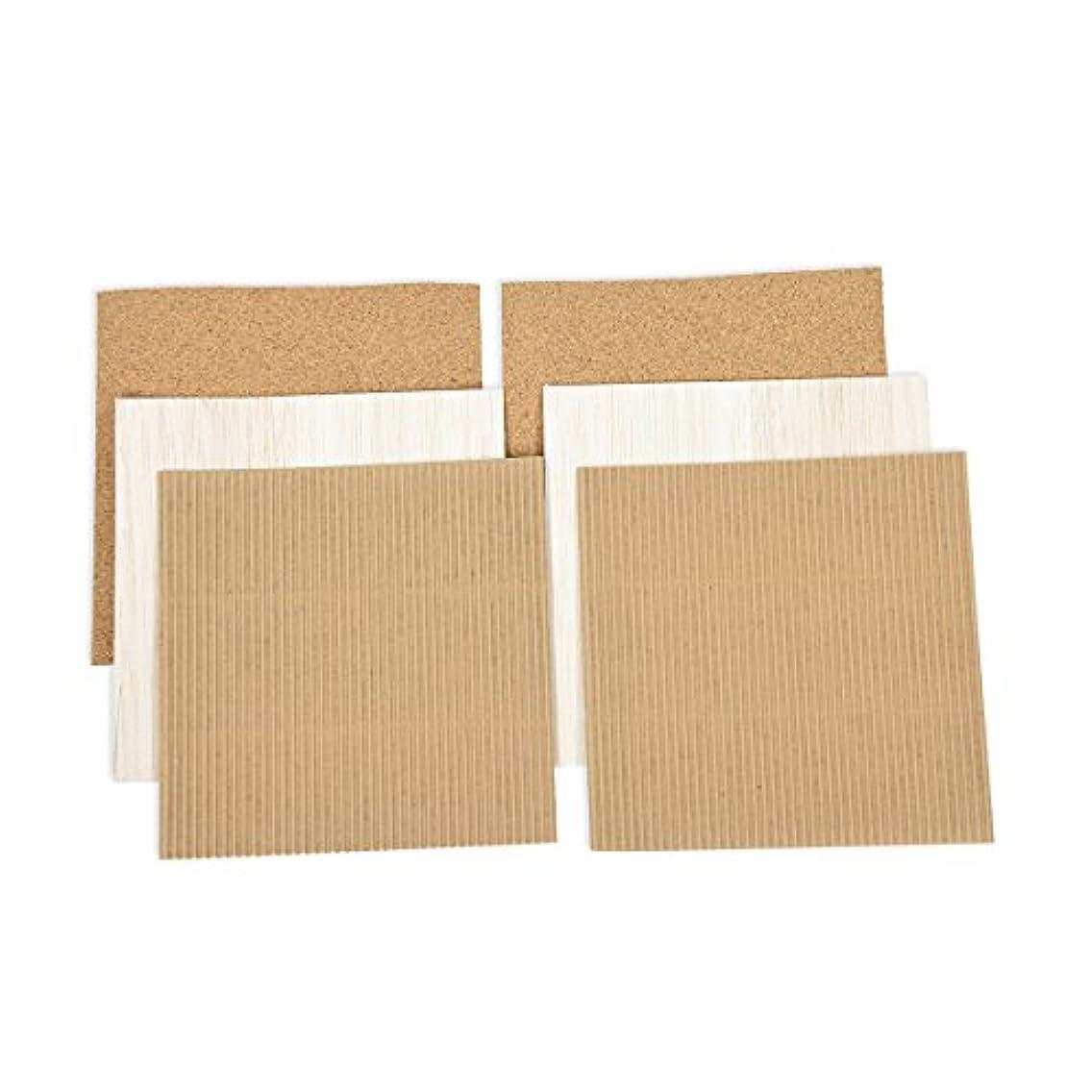 Spellbinders Platinum Pack 5 x 6in Cork, Cardboard, Wood Sheets