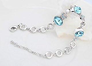 Aigue-marine Femmes élégantes Leng Elegant Pretty Bracelet Bracelet en cristal de luxe Extravagance pour le cadeau de la Saint-Valentin Ameublement et décoration Accessoires d'albums photo