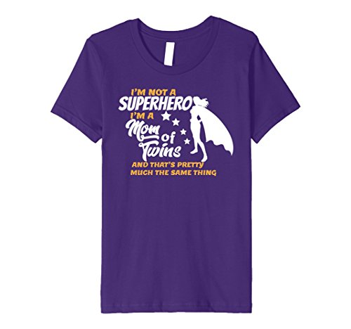 Kids Mom of Twins T-shirt Funny Gift for Twins Mom Shirt 12 Purple