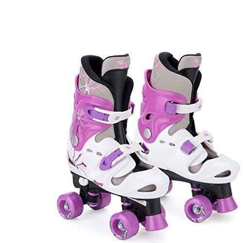 Osprey Quad Skate Rollschuhe Für Mädchen, schwarz/weiß/violett, 28 - 31, TY4803