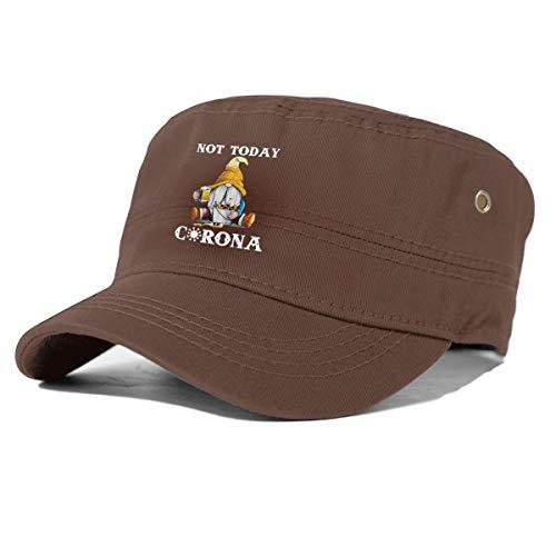 Not Today Cor-Ona-Vir-Us Unisex Adjustable Snapback Hat Casual Baseball Caps Dad Hat Coffee