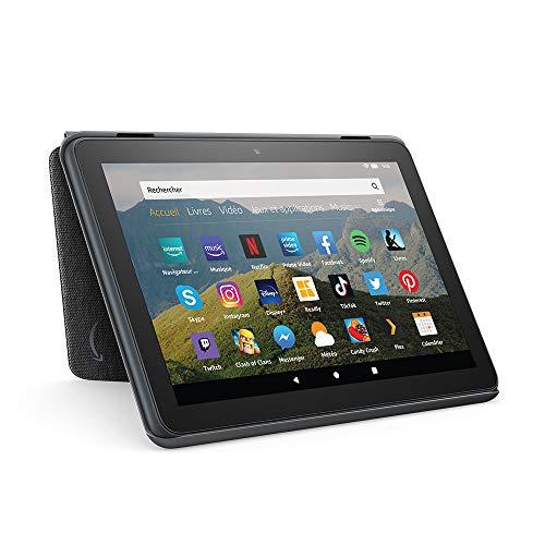 Étui pour tablette Amazon Fire HD 8 (compatible avec les appareils de 10ème génération, modèle 2020), Noir anthracite