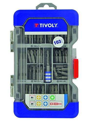 Tivoly 11501570045 Caja de 103 puntas de atornillado cortas y largas, No afectado