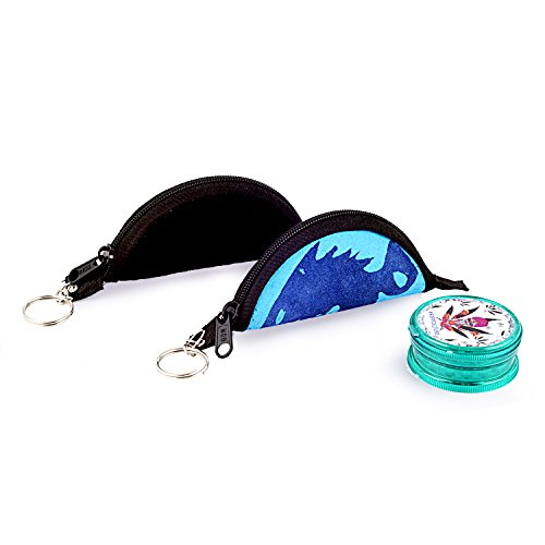 STONERS TOY® Acrylic Weed Grinder with 2 Leather Pouch - (Multicolour,Medium)