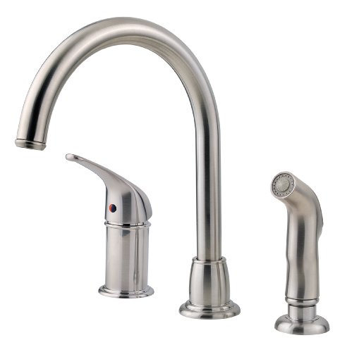 Pfister FWK1680S 1-Handle 3-Hole Cagney Kitchen Faucet, Stainless Steel -