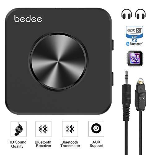 günstig Bedee Bluetooth 5.0 Audio Senderadapter Bluetooth Audio Empfänger 2-in-1 Empfänger für HiFi… Vergleich im Deutschland