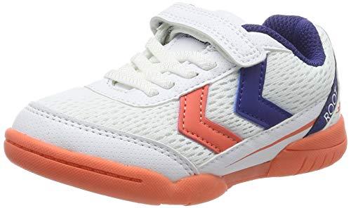 hummel Unisex-Kinder Root JR 3.0 VC Handballschuhe, Mehrfarbig (Living Coral 3654), 27 EU