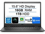 2021 Newest Dell Inspiron 15 Business Laptop Computer: 15.6' HD Display, Intel Dual-Core Celeron N4020(Up to 2.8GHz), 16GB RAM, 1TB HDD, WiFi, Bluetooth, HDMI, Webcam, Windows 10 S, Gift Mousepad