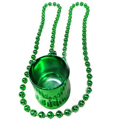 Zoylink 3 STÜCKE St. Patrick's Day Bierkrug Kunststoff Kreative Pub Becher mit Perlenkette