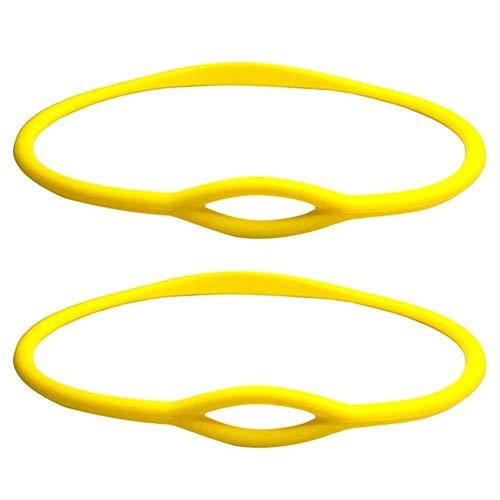 XinXinFeiEr Soporte de silicona para collar de buceo, de 76 cm, flexible, regulador de boquilla, soporte para pulpos, deportes, color amarillo, 2 unidades