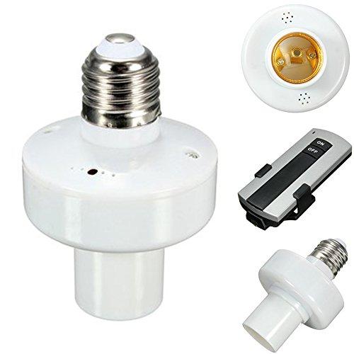Support de douille pour ampoule E27 - Sans fil - Pour ampoules à vis Edison et ampoules - Portée de 10 m, 250.0V