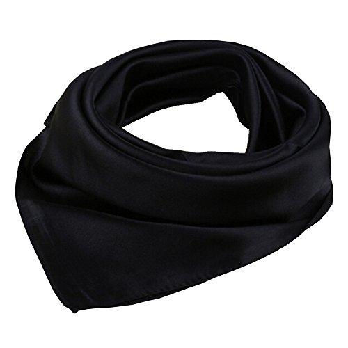Topmode Foulard carré couleur unie 57 * 57cm (Noir)