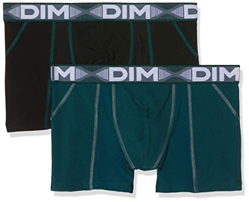 Dim 3D Flex Air, Boxer Homme, 2 Pièces per pack, Multicolore (Vert Pacific/ Noir 8nv) Large (Taille fabricant:4) 2 Pièces per pack