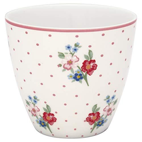 GreenGate - Tasse, Latte Cup - Eja - White - Porzellan - 300 ml
