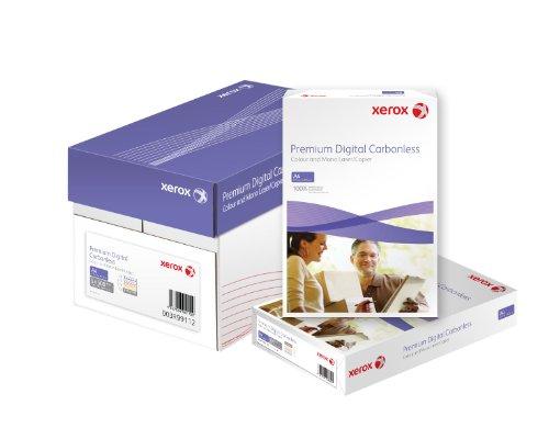 Xerox 003R99111 Premium Digital Selbstdurchschreibepapier 4-fach-Satz vorsortiert Karton mit 5 Pack a 125 Sätze, weiß/gelb/rosa/blau